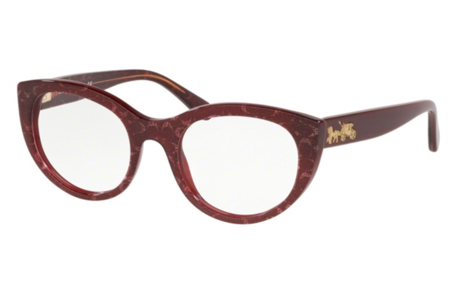 Coach HC6132F Eyeglasses in 5545 Burgundy Glitter Sig C Facing