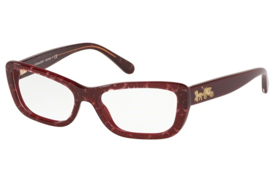 Coach HC6135 Eyeglasses in 5545 Burgundy Glitter Sig C Facing