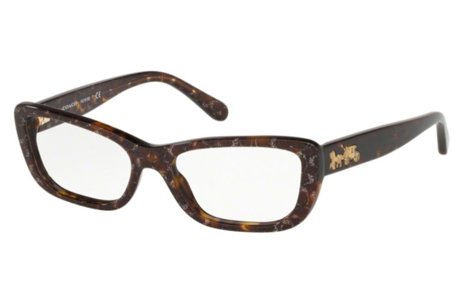 Coach HC6135 Eyeglasses in 5547 Tortoise Glitter Sig C Facing
