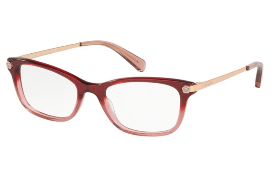 Coach HC6142F Eyeglasses in 5551 Burgundy Glitter Gradient