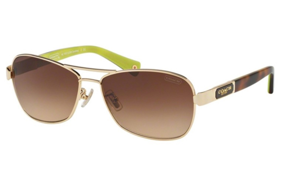 Coach HC7012 Sunglasses in 910013 Gold/Tortoise / Brown Gradient