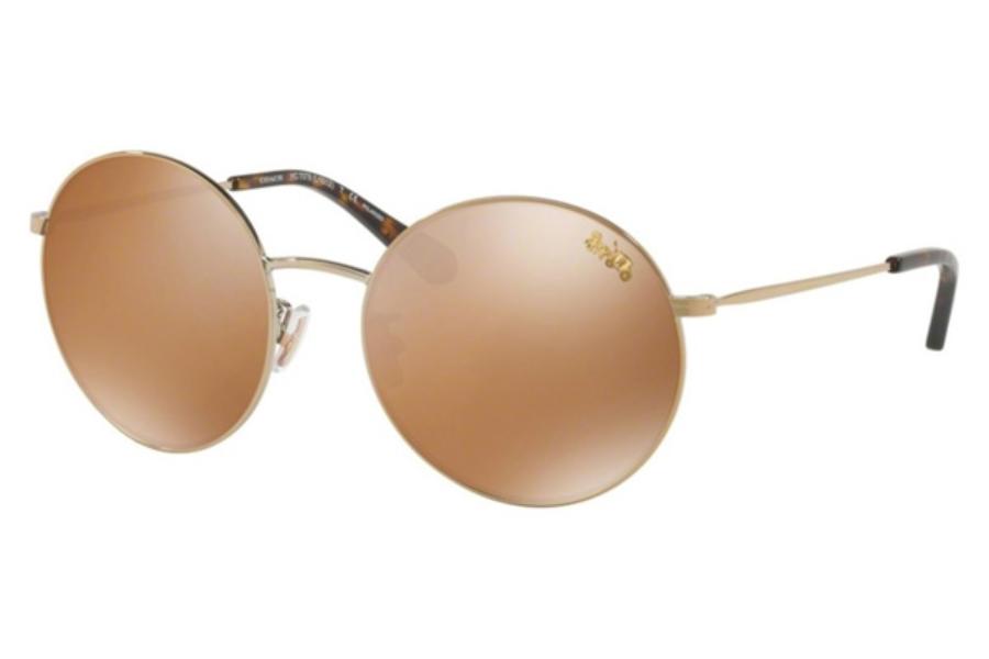 d07e41640d Coach HC7078 Sunglasses in 93222T Light Gold   Gold Mirror Polar ...