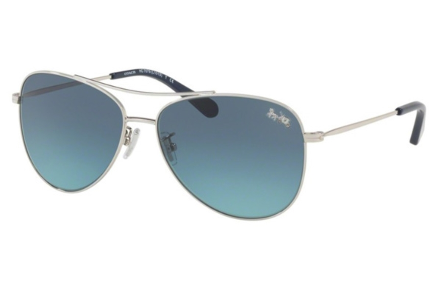 Coach HC7079 Sunglasses in 90014S Silver / Azure Gradient (Discontinued)