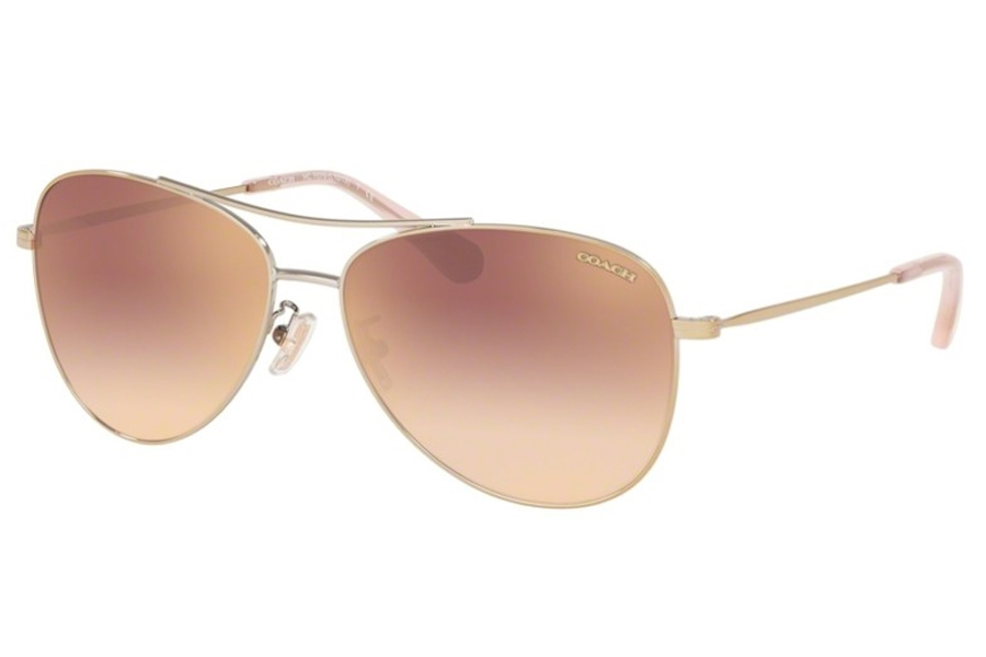 Coach HC7079 Sunglasses in 90056F Shiny Light Gold / Rose Gold Gradient Flash