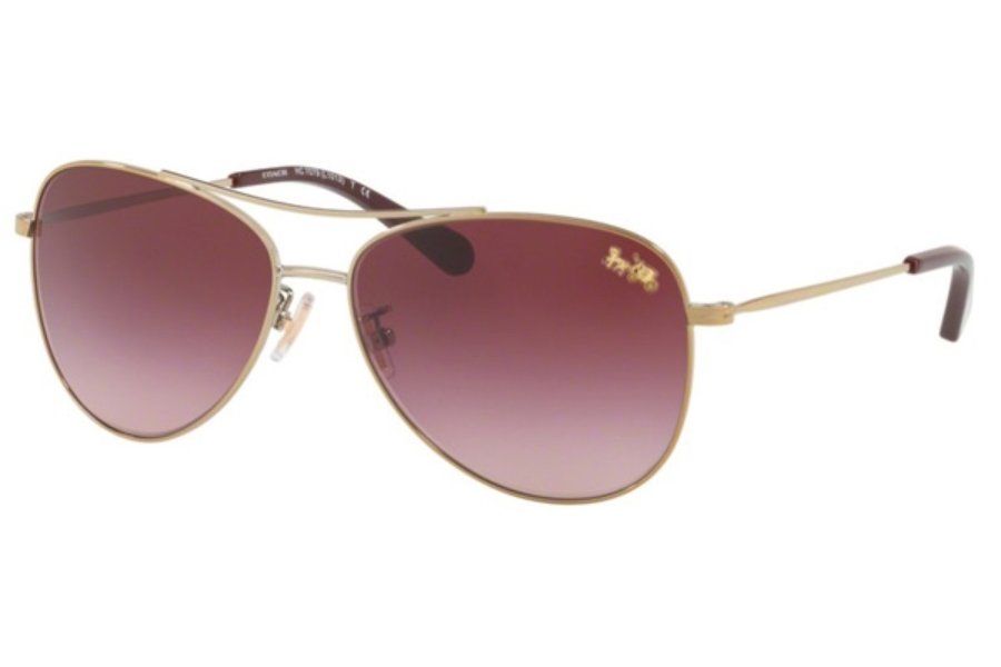 Coach HC7079 Sunglasses in 93228H Light Gold / Burgundy Gradient