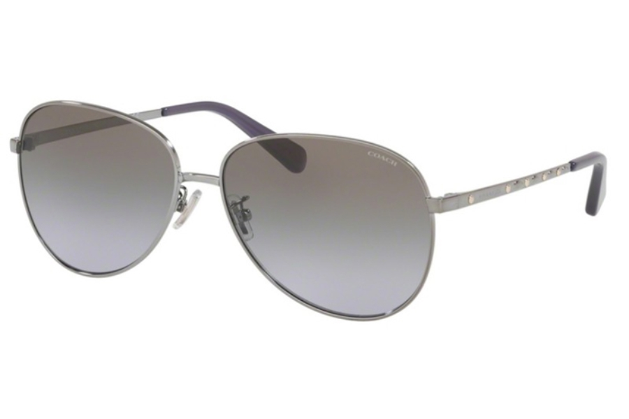 Coach HC7094 L1089 Sunglasses in 90044Q Gunmetal w/Gray Purple Gradient