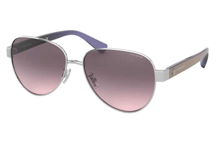 Coach HC7111 Sunglasses in 900146 Shiny Silver / Gray Pink Gradient