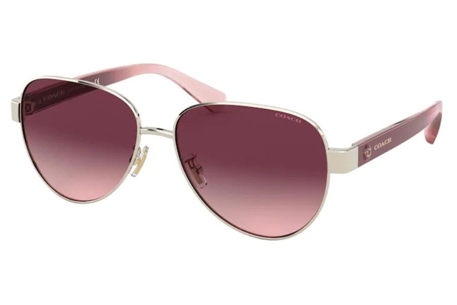 Coach HC7111 Sunglasses in 90058H Shiny Light Gold / Burgundy Gradient