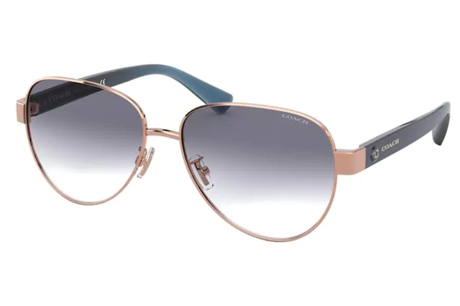 Coach HC7111 Sunglasses in 933179 Shiny Rose Gold / Blue Gradient