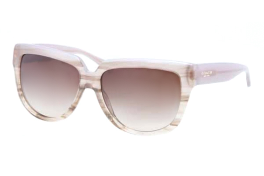 Coach HC8085 Sunglasses in 518713 Taupe Horn Khaki Gradient