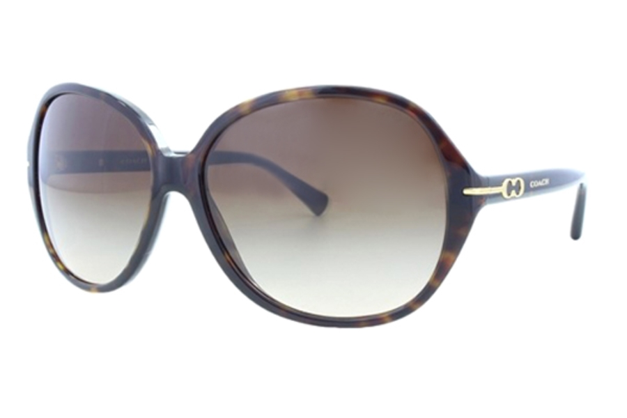 Coach HC8118 Sunglasses in 500113 Tortoise Brown Gradient