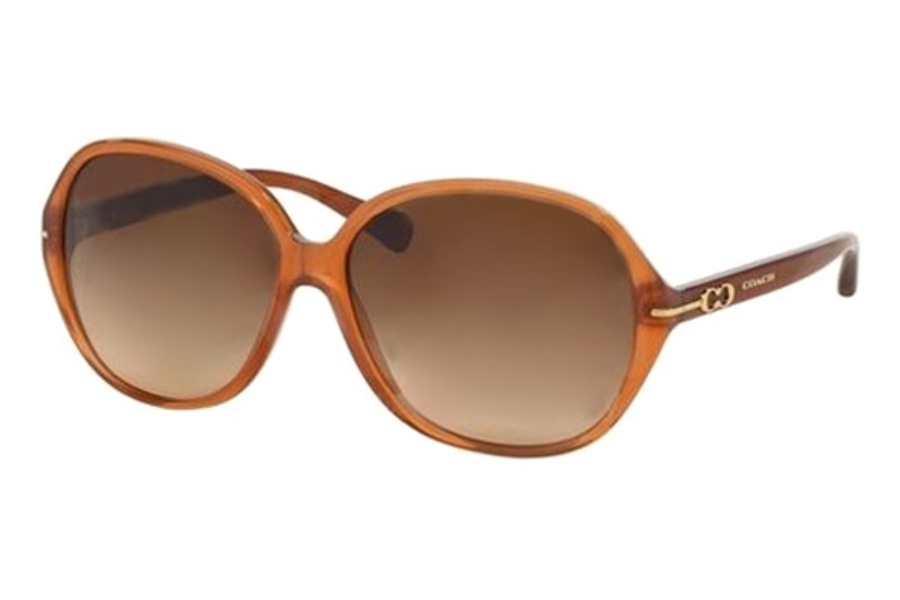 Coach HC8118 Sunglasses in 525113 Milky Saddle Brown Gradient