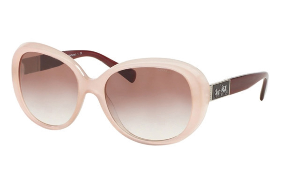 60124ea1f8 ... Coach HC8120 Sunglasses in 53148D Milky Pink Berry Burgundy Gradient ...