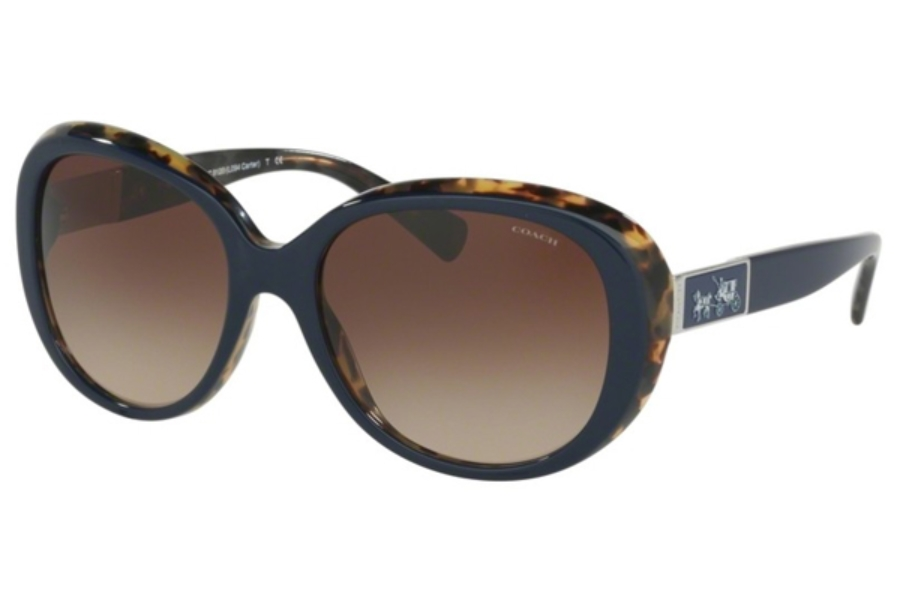 295841c09b ... Coach HC8120 Sunglasses in 537913 Navy Milky Tortoise   Smoke Gradient  ...