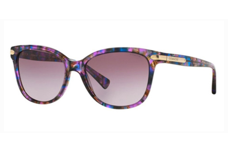 Coach HC8132 Sunglasses in 52888H Confetti Purple Purple Gradient