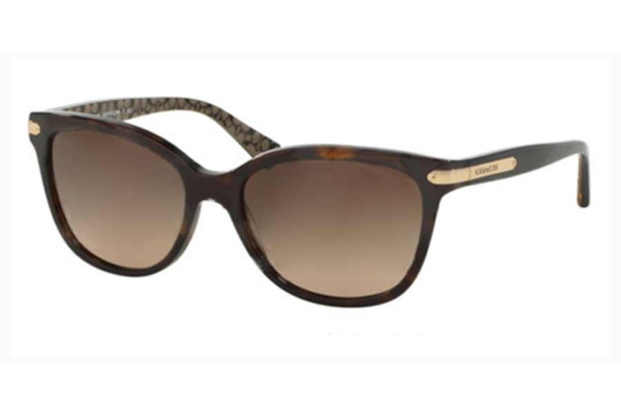 Coach HC8132 Sunglasses in 529113 Dk Tort/Dk Tort Military Sig C Dark Brown Gradient