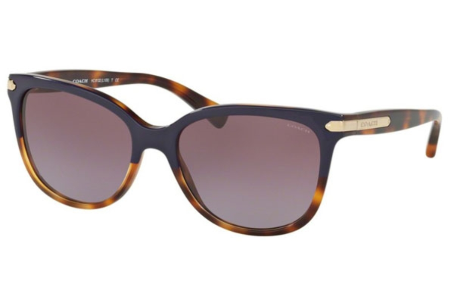 Coach HC8132 Sunglasses in 54398H Purple Tortoise/Tortoise / Purple Gradient (Discontinued)
