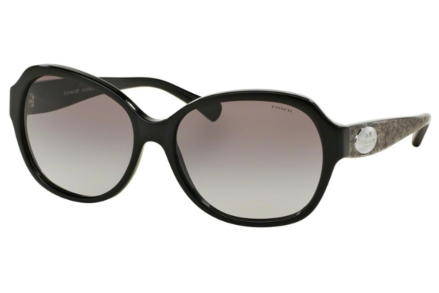 Coach HC8150 Sunglasses in 534611 Black/Whip Snake Fog - Grey Gradient