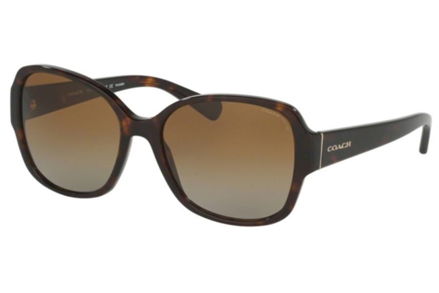 Coach HC8166 Sunglasses in 5120T5 Dark Tortoise / Brown Gradient Polarized (Discontinued)
