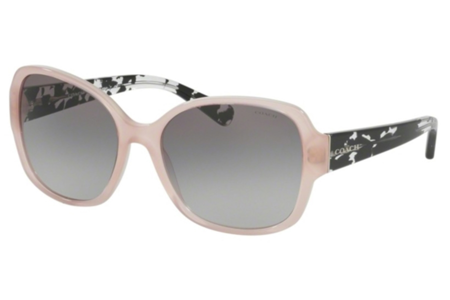 Coach HC8166 Sunglasses in 535011 Blush/Black Crystal Mosaic / Grey Gradient (Discontinued)