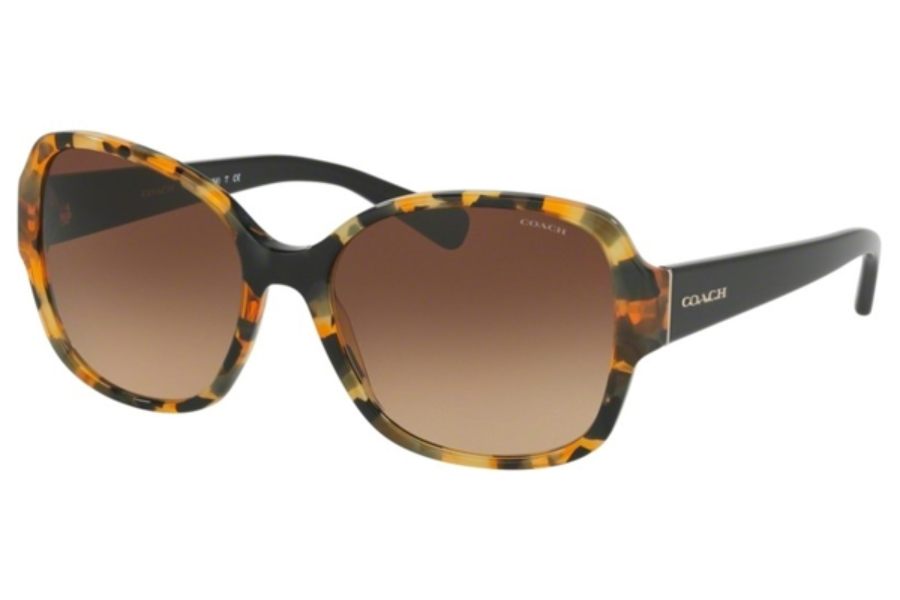 Coach HC8166 Sunglasses in 535913 Honey Mosaic/Black / Brown Gradient (Discontinued)