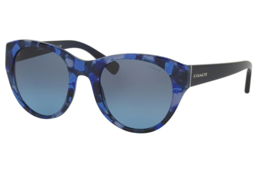 Coach HC8167F Sunglasses in 536117 Blue Black Mosaic/Navy / Blue Black Mosaic/Navy