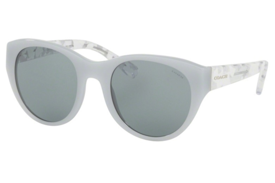 Coach HC8167F Sunglasses in 5362C2 Dove Grey/White Crystal Mosaic / Blue Grey Solid