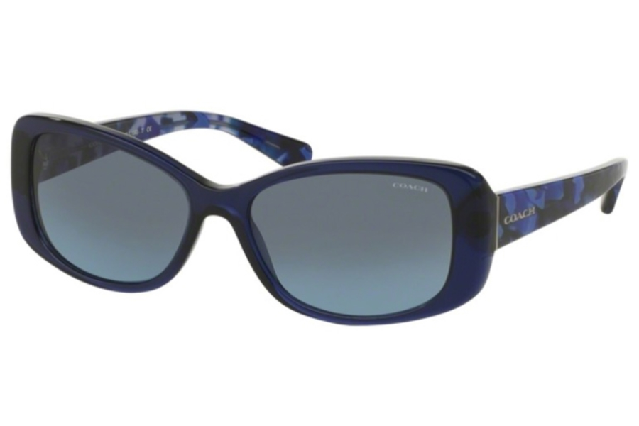 Coach HC8168 Sunglasses in 534917 Navy/Blue Black Mosaic / Grey Blue Gradient (Discontinued)