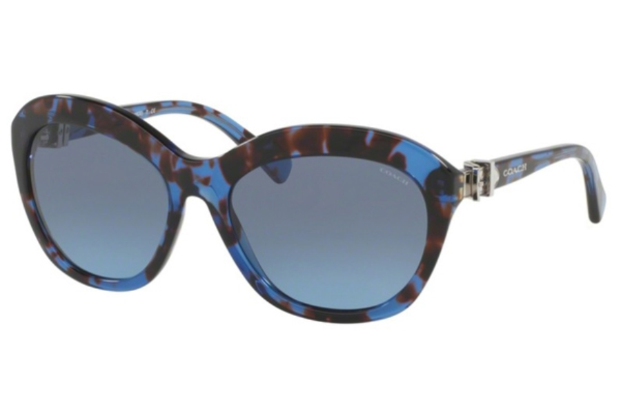 Coach HC8184 Sunglasses in 53923N Blue Tortoise / Grey Blue Gradient (Discontinued)