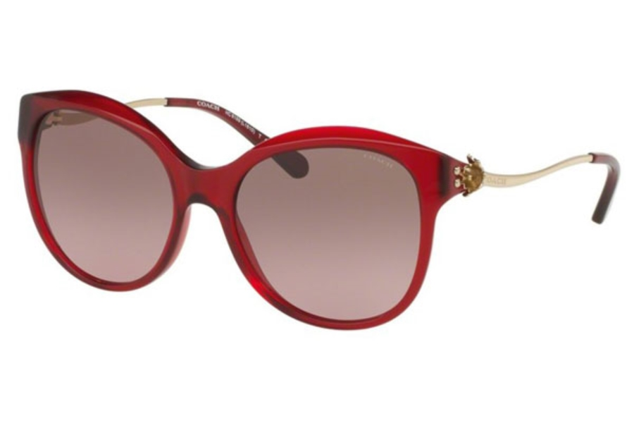 Coach HC8189F Sunglasses in 541914 Burgundy/Light Gold / Brown Rose Gradient (Discontinued)
