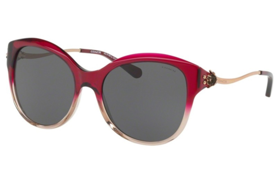 Coach HC8189F Sunglasses in 547387 Red Sand Gradient / Dark Grey Solid (Discontinued)