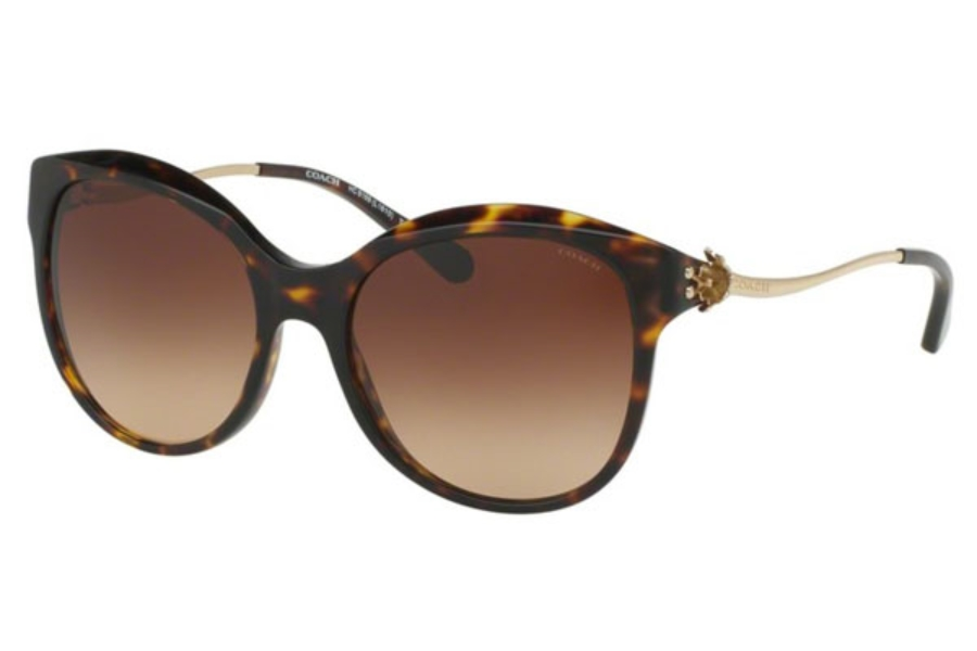 Coach HC8189 Sunglasses in 541713 Dark Tortoise/Light Gold / Brown Gradient