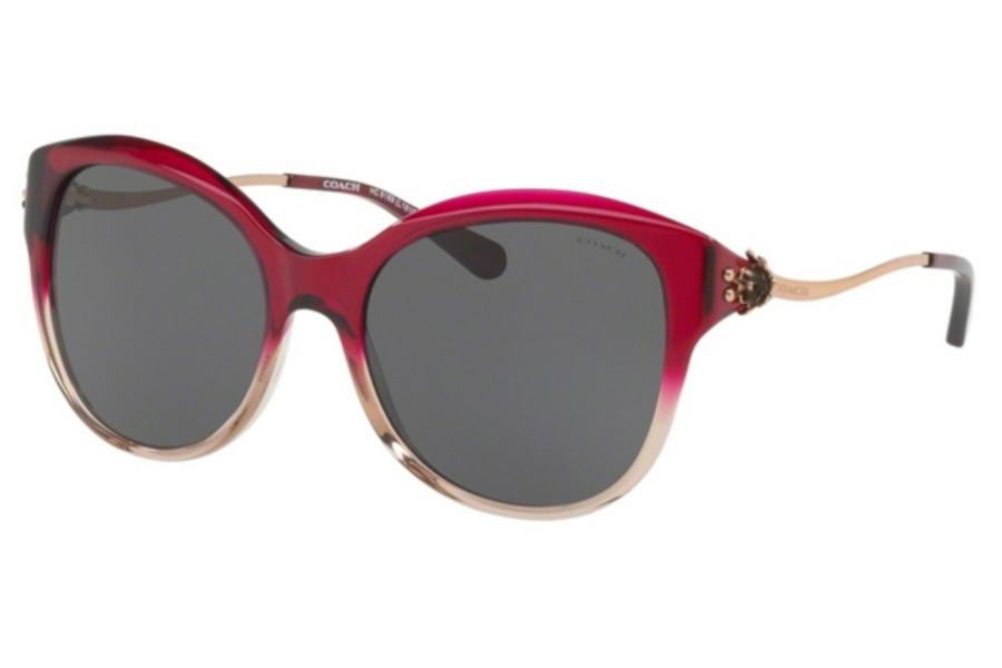 Coach HC8189 Sunglasses in 547387 Red Sand Gradient / Dark Grey Solid