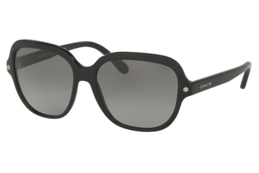 Coach HC8192F Sunglasses in 542011 Black/Black Gunmetal Sig C / Grey Gradient