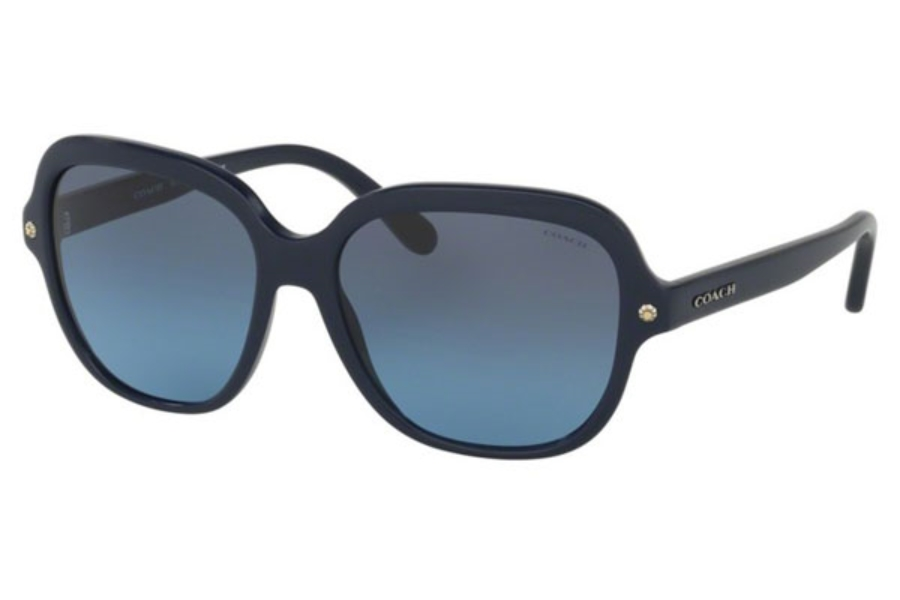 Coach HC8192F Sunglasses in 542217 Navy / Grey Blue Gradient