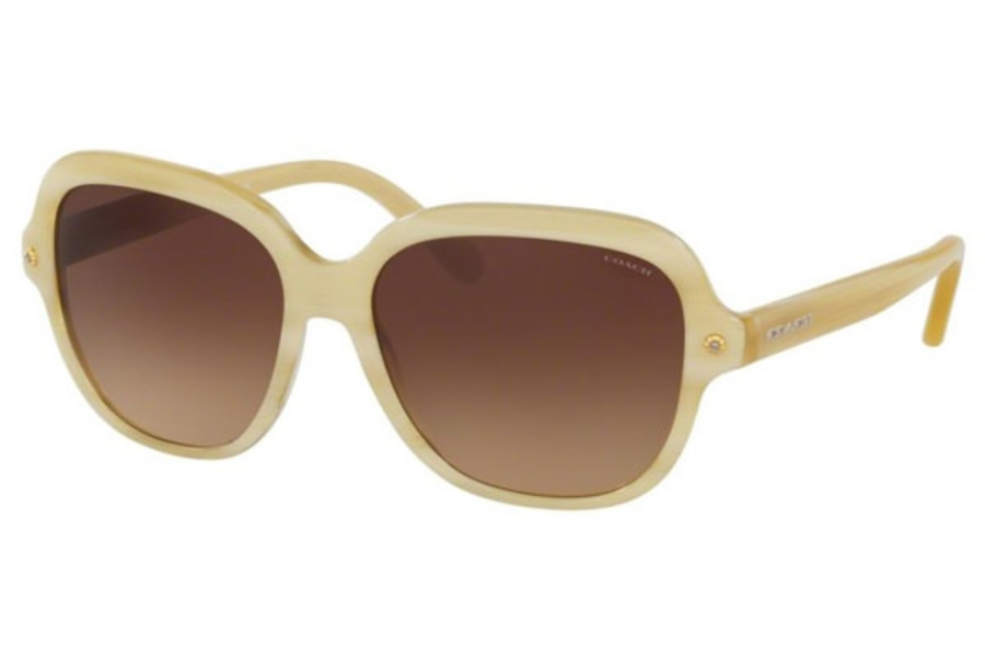 Coach HC8192F Sunglasses in 542313 Ivory Horn / Brown Gradient