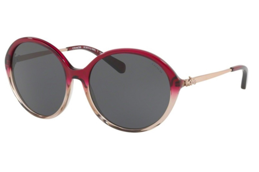 Coach HC8214F Sunglasses in 547387 Red Sand Gradient / Dark Grey Solid