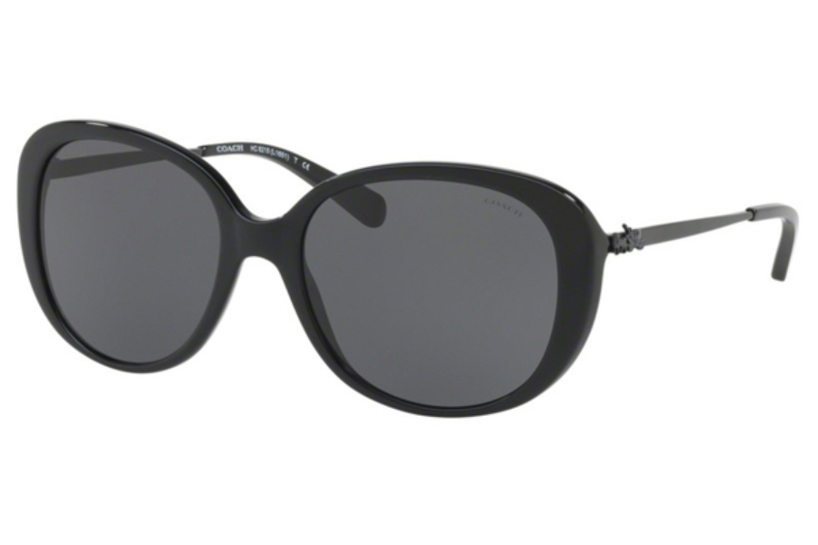 Coach HC8215 Sunglasses in 548287 Black / Dark Grey Solid