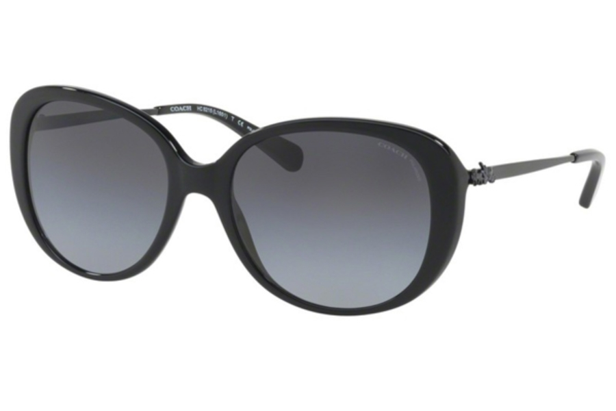 Coach HC8215 Sunglasses in 5482T3 Black / Grey Gradient Polar