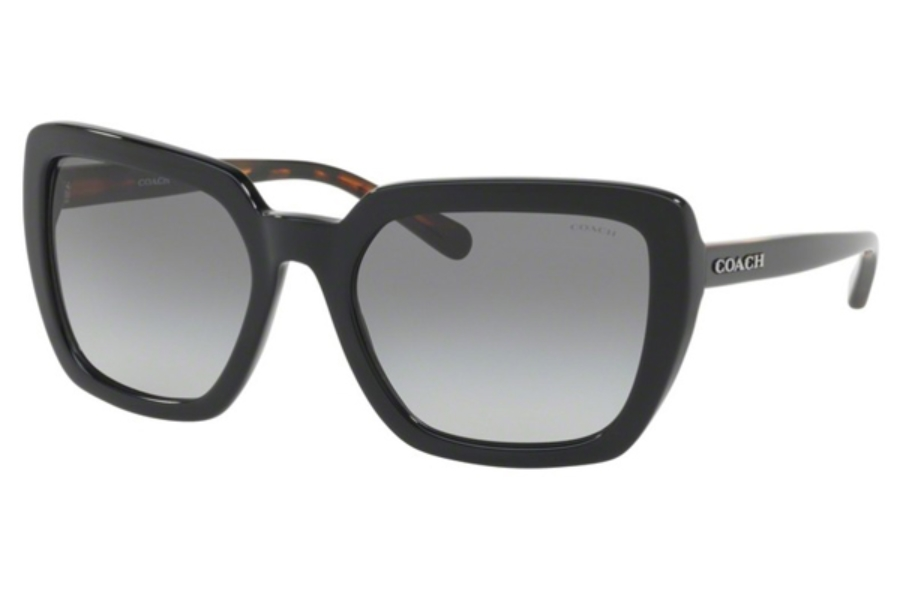Coach HC8217F Sunglasses in 548711 Black / Dark Grey Gradient (Discontinued)