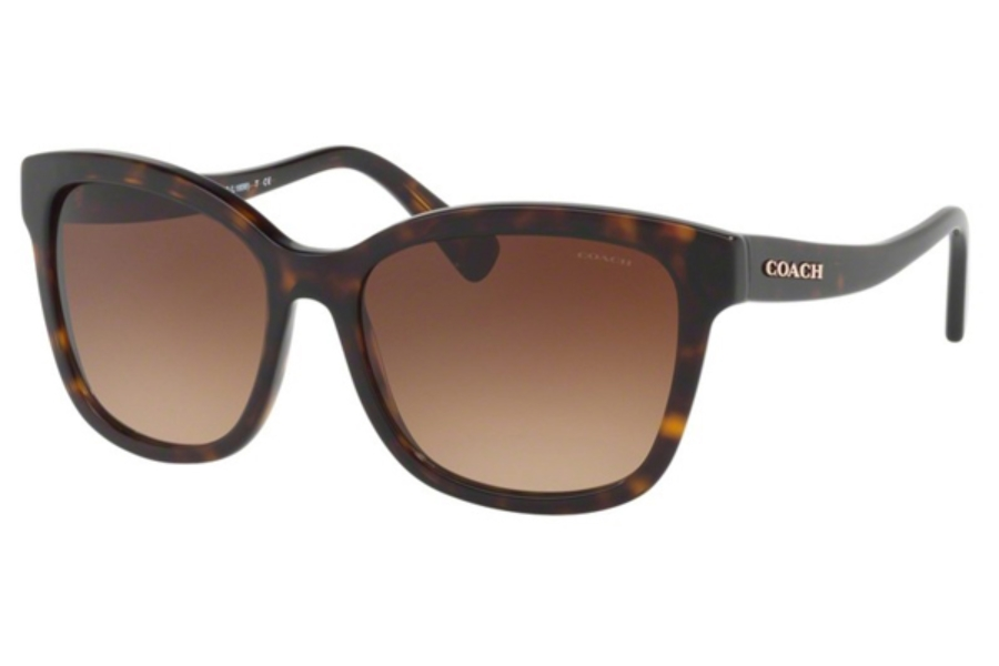 Coach HC8219 Sunglasses in 512013 Dark Tortoise / Brown Gradient