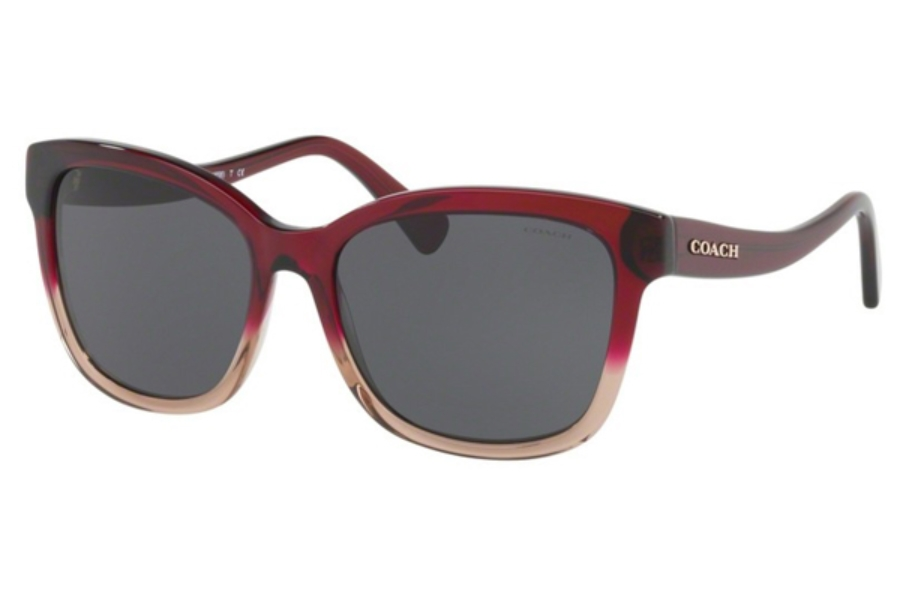 Coach HC8219 Sunglasses in 548487 Red Sand Gradient / Dark Grey Solid