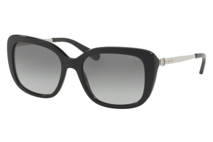 Coach HC8229 Sunglasses in 550111 Black / Grey Gradient