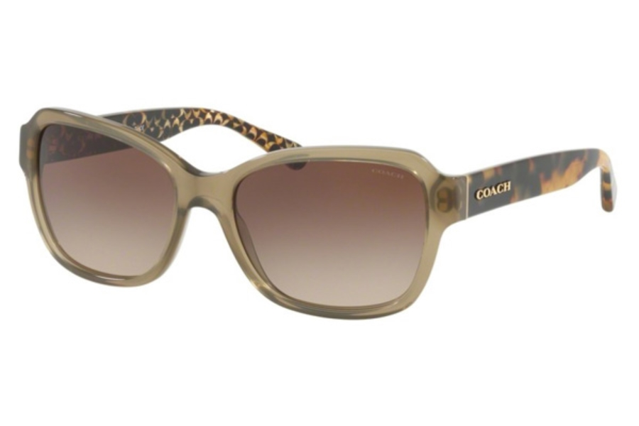 Coach HC8232 Sunglasses in 550813 Olive / Smoke Gradient