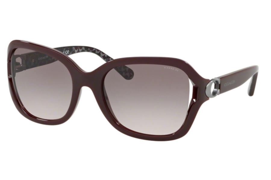 Coach HC8238 Sunglasses in 55203B Match Oxblood/Grey Pink Gradient
