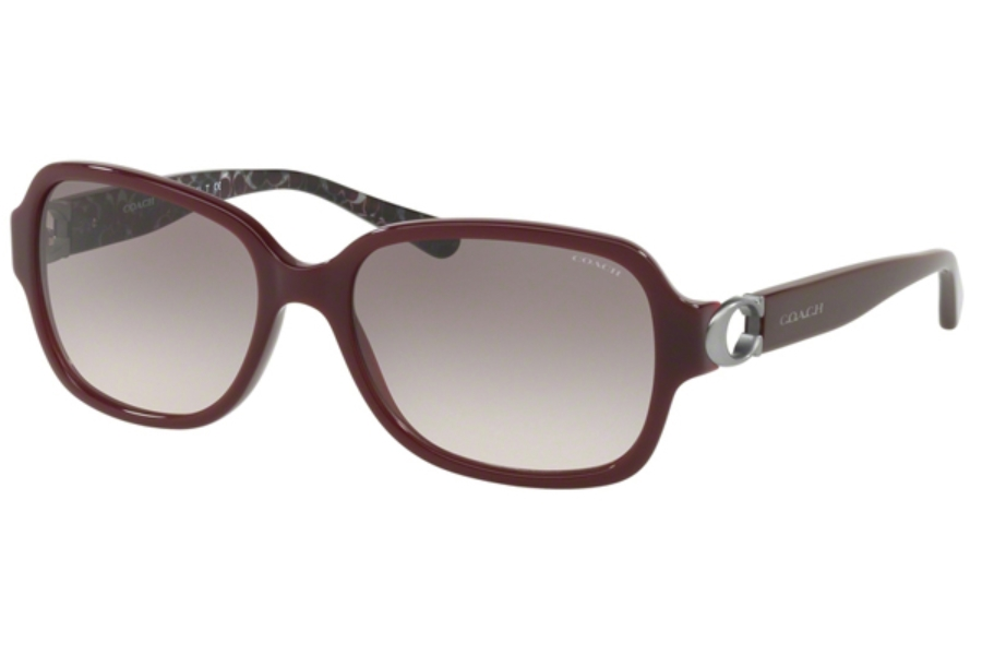 Coach HC8241F Sunglasses in 55203B Oxblood/Grey Pink Gradient