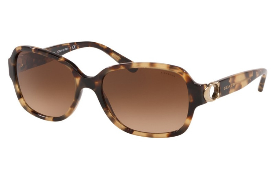 Coach HC8241F Sunglasses in 557674 Brown Tortoise / Brown Gradient