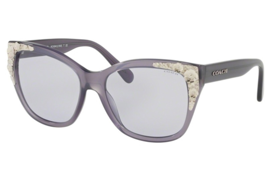 Coach HC8244F Sunglasses in 55221A Milky Purple / Light Purple Solid