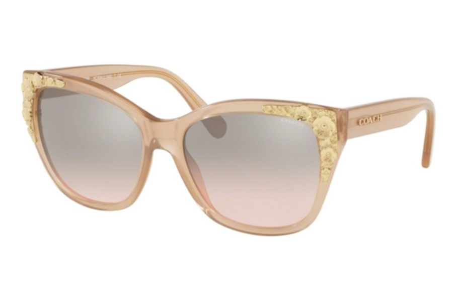 Coach HC8244F Sunglasses in 55238Z Milky Pink Champagne / Silver Pink Gradient Flash