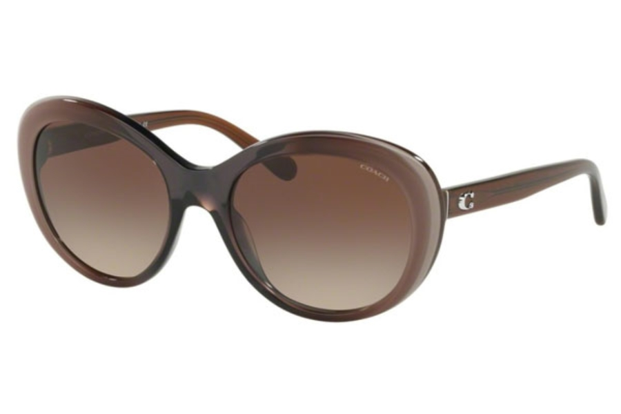 Coach HC8259F Sunglasses in 553413 Taupe Laminate / Smoke Gradient